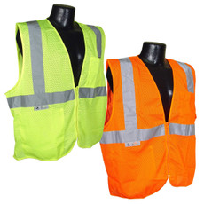 Radians Economy Class 2 Mesh Safety Vest with Zipper, SV2Z