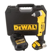 DeWalt 20-Volt Max Lithium-Ion Cordless Compact Right Angle Drill Kit, DCD740C1