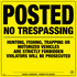 Posted No Trespassing Signs - Yellow Plastic (197HFTYP)