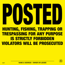 Posted Violators Will Be Prosecuted Posted Signs - Yellow Plastic (154PVYP)