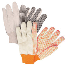 Memphis Dotted Canvas Gloves Medium Weight Cotton, Knit Wrist, 8800 & 8800B