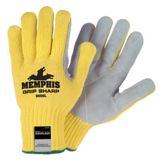 Memphis Grip Sharp Kevlar Shell Leather Palm Gloves, 9686