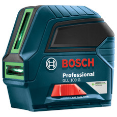 Bosch Green Beam Self Leveling Cross-Line Alignment Laser, GLL-100-G