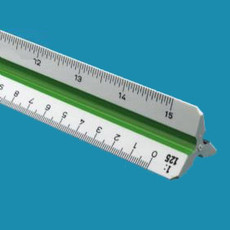 Alvin 740PM Metric Plastic Triangular Scales