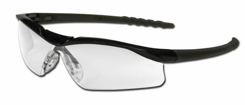 Dallas - Plus Series Safety Glasses - CLEAR LENS, BLACK FRAME