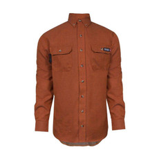 TECGEN Flame Resistant Orange Dress Uniform Shirt