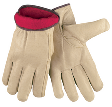 Memphis Red Fleece Lined Pigskin Drivers Glove, XXLarge