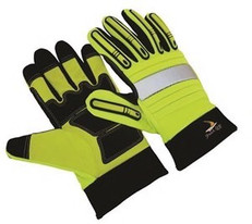 Seattle Glove GR2012 Green Hi Vis Shock Grip Gloves