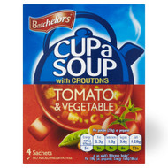 Batchelors Cup A Soup Tomato & Vegetable - 104g - Pack of 4 (104g x 4)