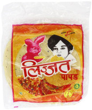 Lijjat Pappadum Black Pepper Flavour - 200g (pack of 3)