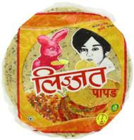 Lijjat Pappadum Punjabi Masala Flavour - 200g (pack of 3)