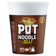 Pot Noodle Beef & Tomato Flavour - 90g - Pack of 2 (90g x 2)