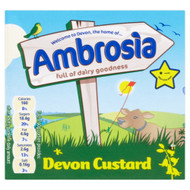 Ambrosia Ready to Serve Devon Custard - 500g - Pack of 2