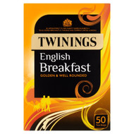 Twinings English Breakfast Tea Bags - 50's - Pack of 4 (50's x 4)