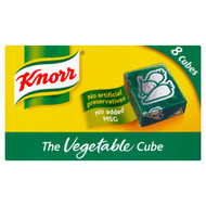 Knorr Vegetable Stock 8 Cubes - 80g - Pack of 8 (80g x 8)
