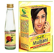 Dabur Herbal Multani Mati & Dabur Rose Water - 250ml and 100g