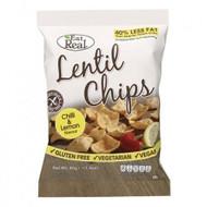 Eat Real Chilli & Lemon Lentil Chips Pack of 12 -12 x 40g