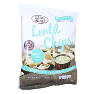 Eat Real Creamy Dil Lentil Chips Pack of 12 -12 x 40g