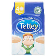 Tetley Original Tea Bags - 40's - Pack of 4 (40's x 4)
