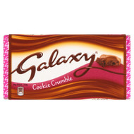 Galaxy Cookie Crumble Chocolate Block - 114g - Pack of 4 (114g x 4)