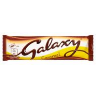 Galaxy Twin Caramel Chocolate Bar - 48g - Pack of 12 (48g x 12 Bars)