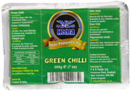 Heera Mini Papad Green Chilli Pack of 5 - 5 x 200g
