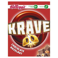 Kellogg's Krave Cereal Chocolate Hazelnut - 375g - Pack of 2 (375g x 2 Boxes)