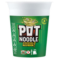 Pot Noodle Chicken & Mushroom Flavour - 90g - Pack of 4 (90g x 4)