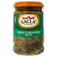 Sacla Italia Fresh Coriander Pesto - 190g - Pack of 2 (190g x 2 Jars)