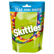 Skittles Crazy Sour Pouch - 174g - Pack of 2 (174g x 2 Pouches)