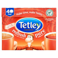 Tetley Pure Redush Tea Bags - 40's - Pack of 4 (40's x 4)