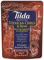 Tilda Steamed Basmati Mexican Bean & Chilli -6 x 250g