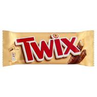 Twix Twin Chocolate Bars - 50g - Pack of 12 (50g x 12 Bars)