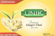 Unik Ginger Tea Sweetened Pack of 5 -5 x 220g