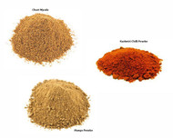 Jalpur Millers Spice Combo Pack - Chaat Masala 100g - Mango Powder (amchoor powder) 100g - Kashmiri Chilli Powder 100g (3 Pack)