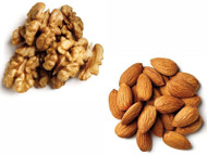 Jalpur Millers Nut Combo Pack - Walnut Kernels 1kg - Almonds 1kg (2 Pack)