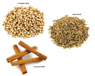 Jalpur Millers Spice Combo Pack - Coriander Seeds 100g - Cumin Seeds 100g - Cinnamon Quills 100g (3 Pack)