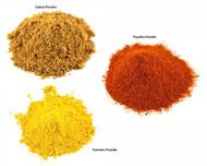 Jalpur Millers Spice Combo Pack - Paprika Powder 100g - Turmeric Powder 100g - Cumin Powder 100g (3 Pack)