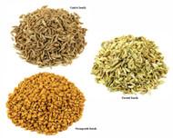 Jalpur Millers Spice Combo Pack - Fennel Seeds 500g - Fenugreek Seeds 500g - Cumin Seeds 500g (3 Pack)