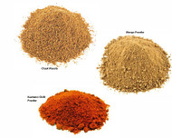 Jalpur Millers Spice Combo Pack - Chaat Masala 100g - Dry Mango Powder 100g - Kashmiri Chilli Powder 100g (3 Pack)