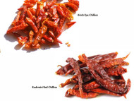 Jalpur Millers Spice Combo Pack - Birds Eye Chillies 50g - Kashmiri Red Chillies 50g (2 Pack)