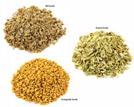Jalpur Millers Spice Combo Pack - Dill Seeds 500g - Fenugreek Seeds 500g - Fennel Seeds 500g (3 Pack)