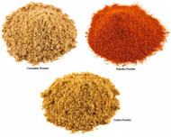 Jalpur Millers Spice Combo Pack - Coriander Powder 500g - Cumin Powder 500g - Paprika Powder 500g (3 Pack)