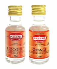 Preema Combo Pack - Preema Coconut Essence 28ml - Preema Orange Essence 28ml (2 Pack)