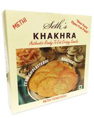 Seth's - Khakhara Authentic Crispy Snack - Methi Flavour (Fenugreek Flavour) - 200g