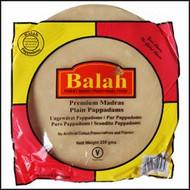 Balah - Plain Madras Pappadams Restuarant Style - 200g (Pack of 4)