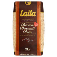 Laila - Brown Basmati Rice - 2kg (Pack of 2)