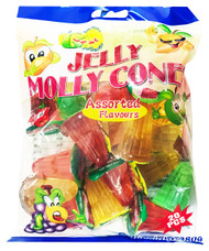 Jelly Molly - Jelly Cones (Assorted Flavours) - 380g (20pcs) (Pack of 2)