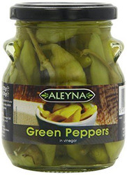 Aleyna - Green Peppers in Vinegar - 275g (Pack of 2)
