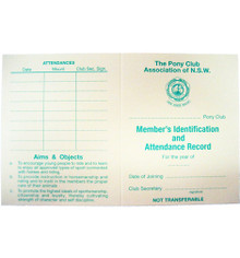 Club Membership ID & Attendance Card